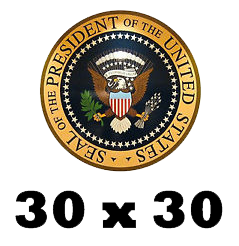 30 x 30 Oval Office 1985
